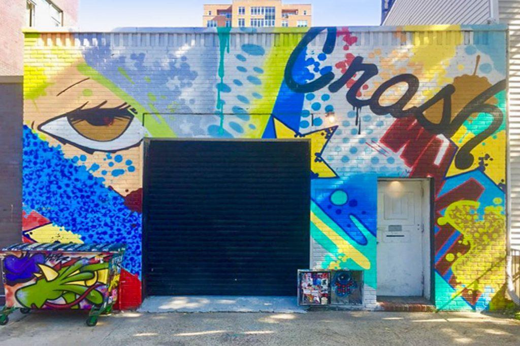 Pop-up art space in Williamsburg