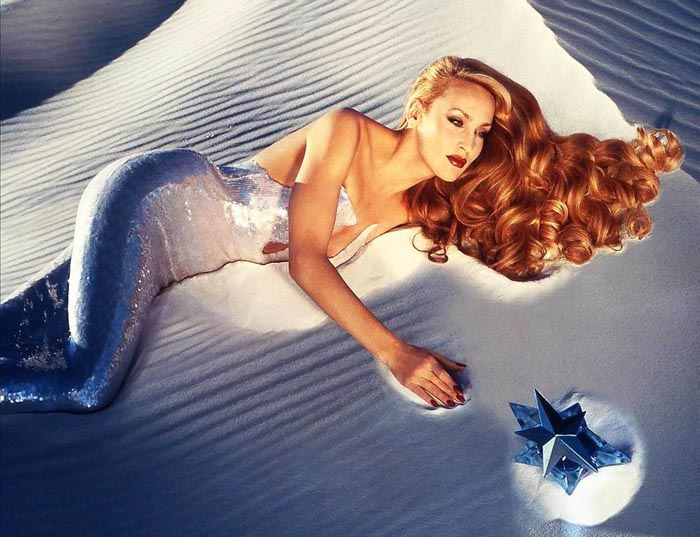 Jerry Hall in original Angel campaign