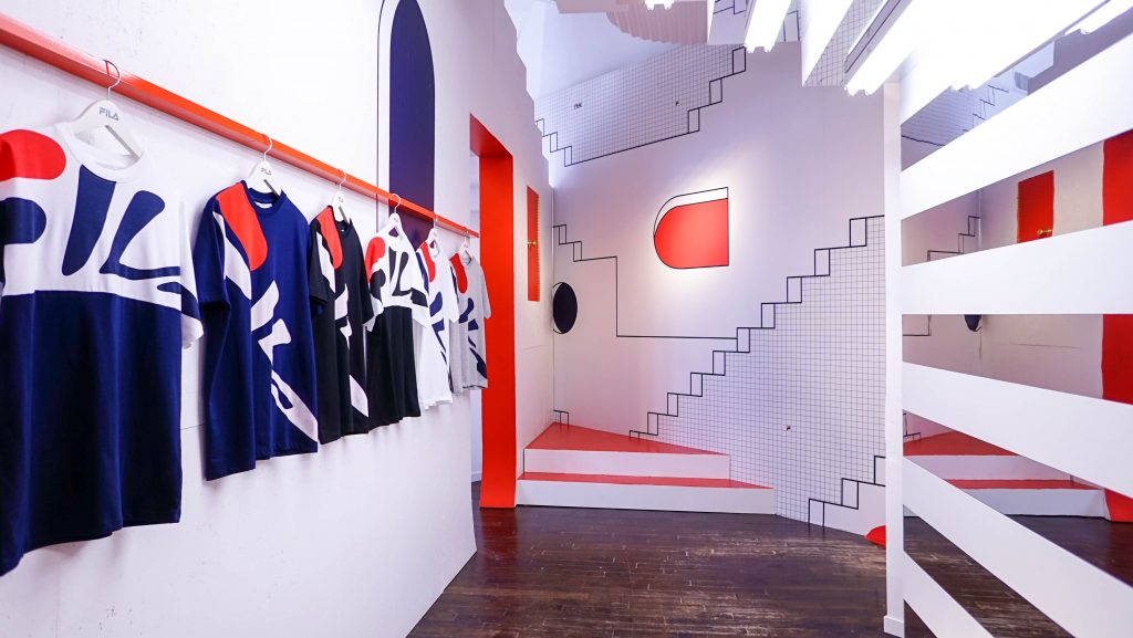 Inside FILA's First-Ever Heritage Pop-Up Store - Storefront
