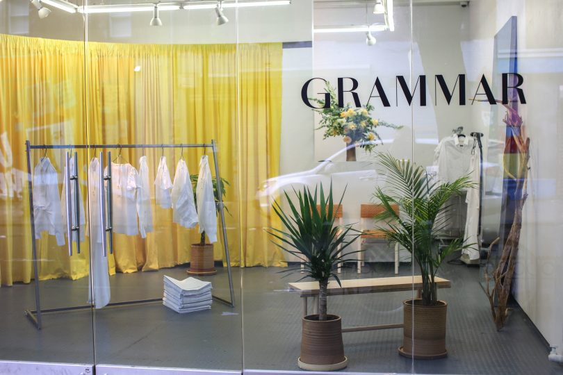 Inside the GRAMMAR Pop-Up Store in LES - Storefront