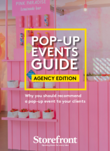 Why you should recommend a pop-up event to your clients