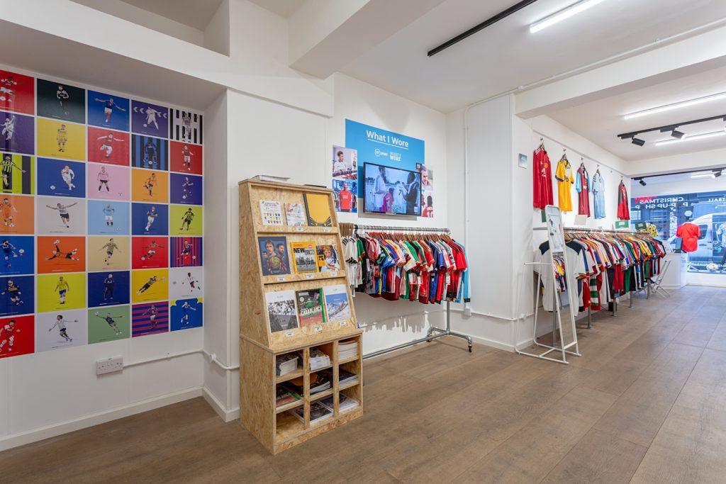 The Classic Football Shirts pop-up store in London